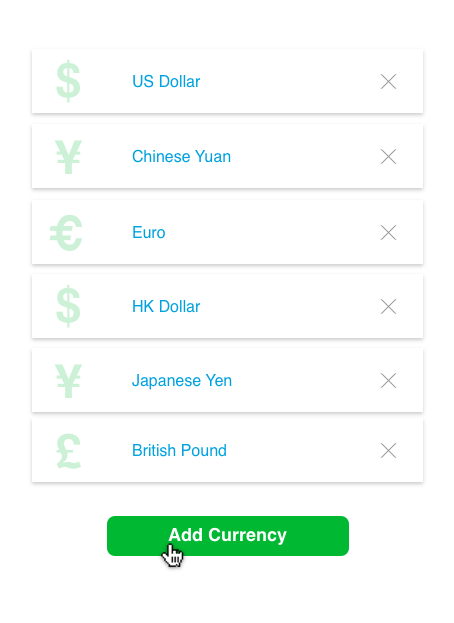 Drive revenue in multiple currencies